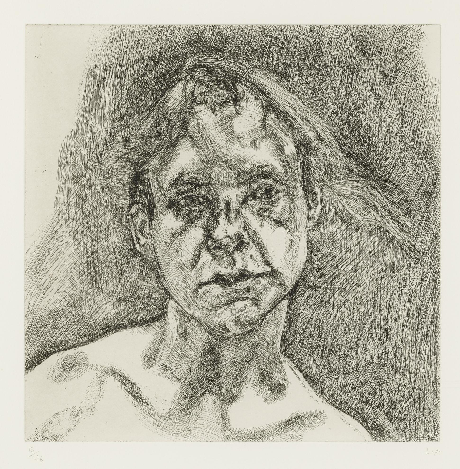Lucian Freud-Head Of A Naked Girl (F. 60)-2000