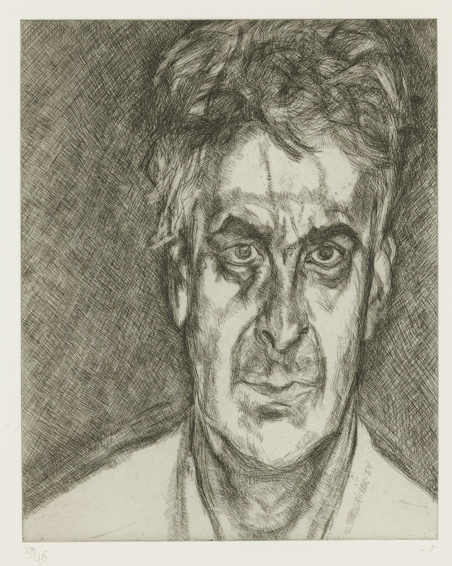 Lucian Freud-Portrait Head (F. 82)-2005