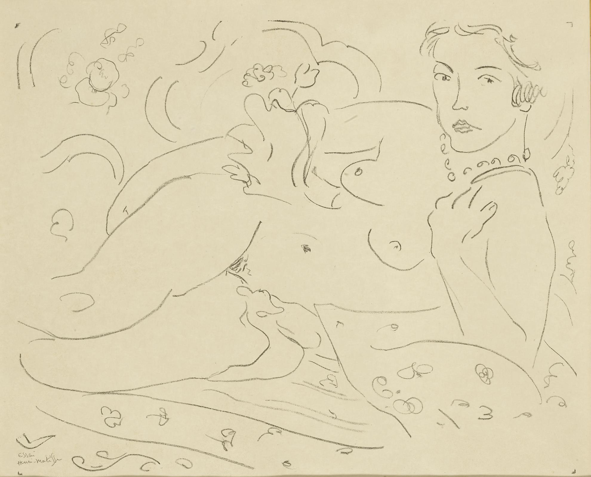 Henri Matisse-Nu, Main Gauche Pres De Lepaule (Duthuit 474)-1926