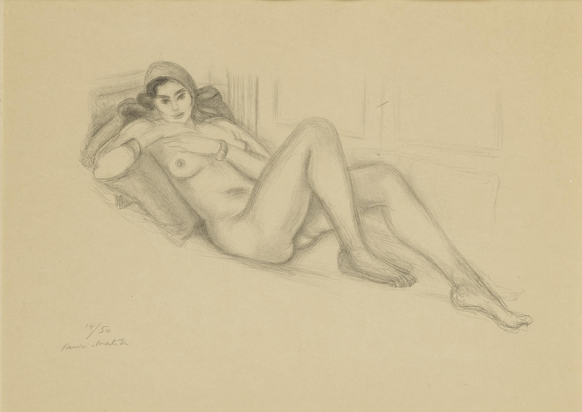 Henri Matisse-Nu Au Turban (D. 509)-1929