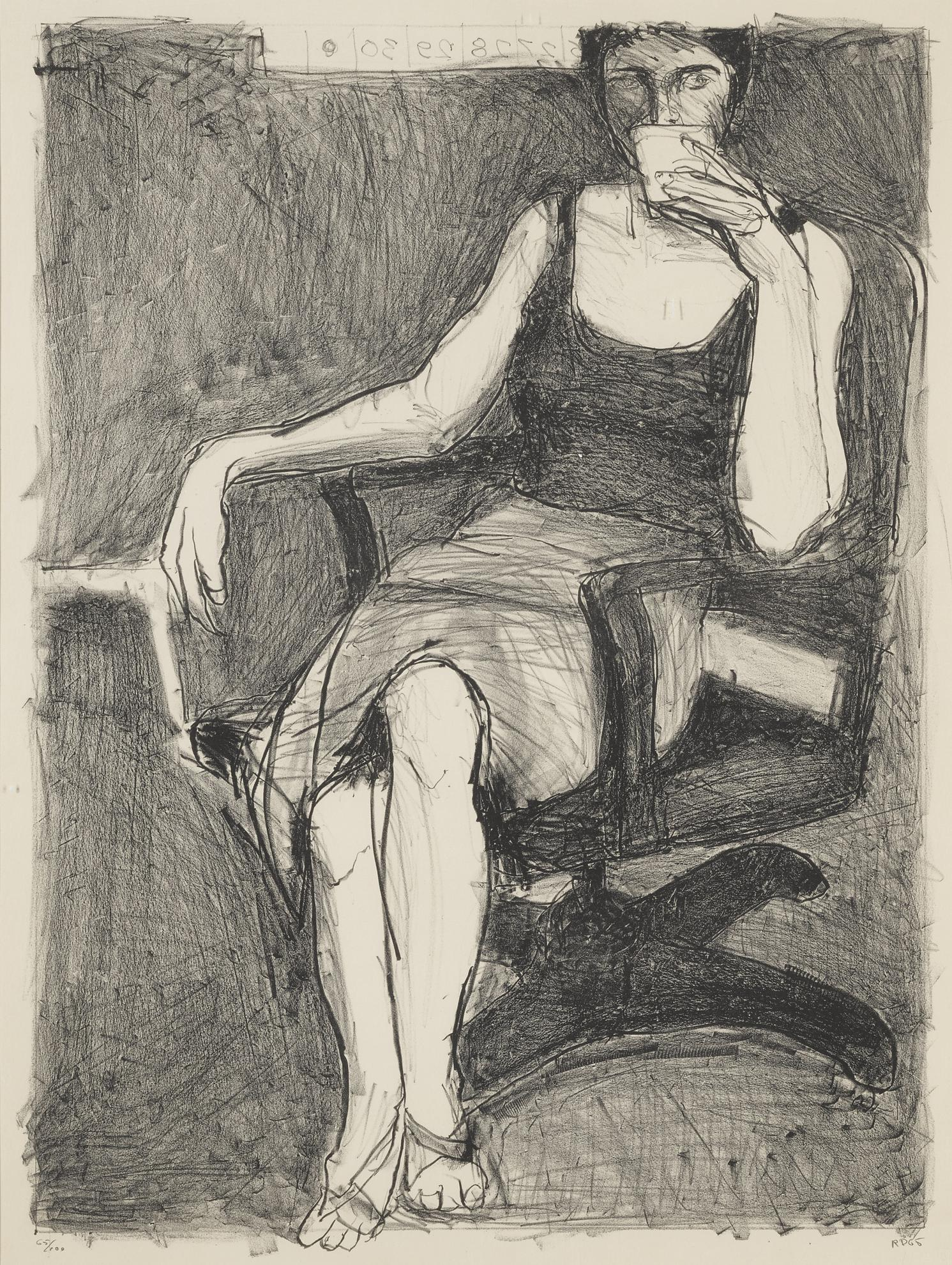 Richard Diebenkorn-Seated Woman Drinking From A Cup-1965