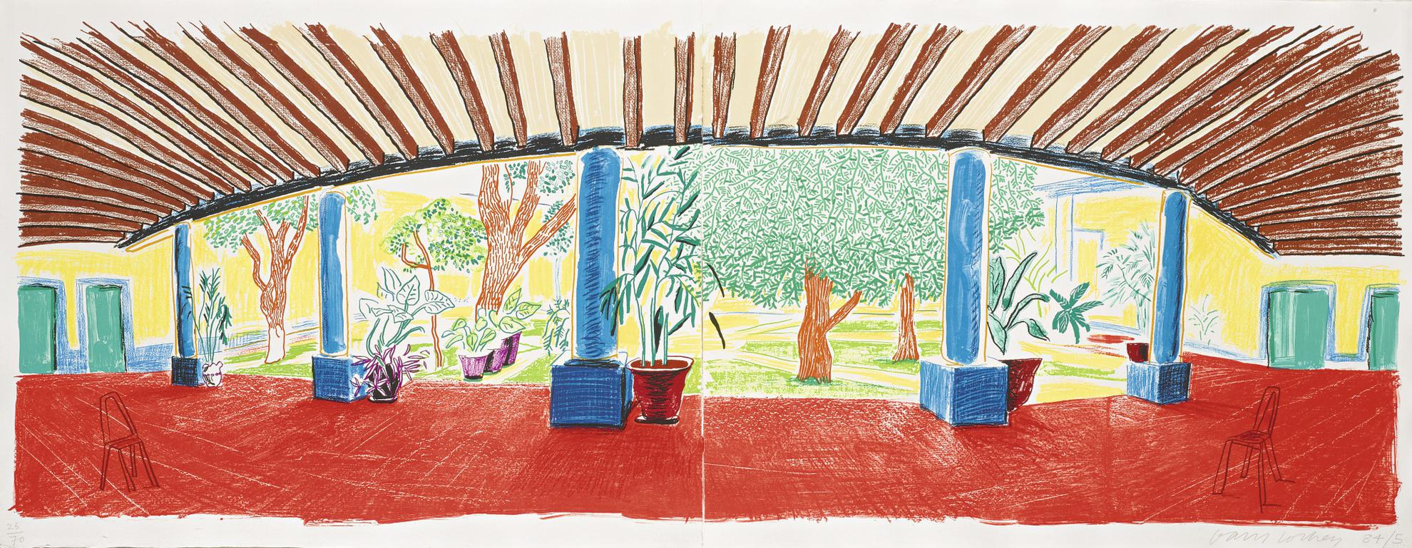 David Hockney-Hotel Acatlan: First Day (Museum Of Contemporary Art, Tokyo 269)-1985