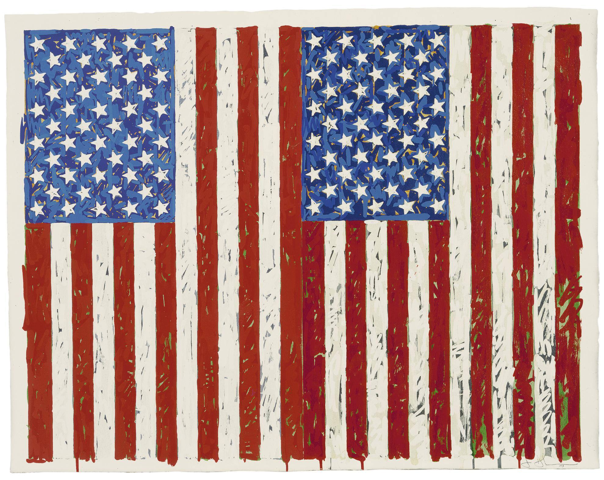 Jasper Johns-Flags I (Ulae 128)-1973