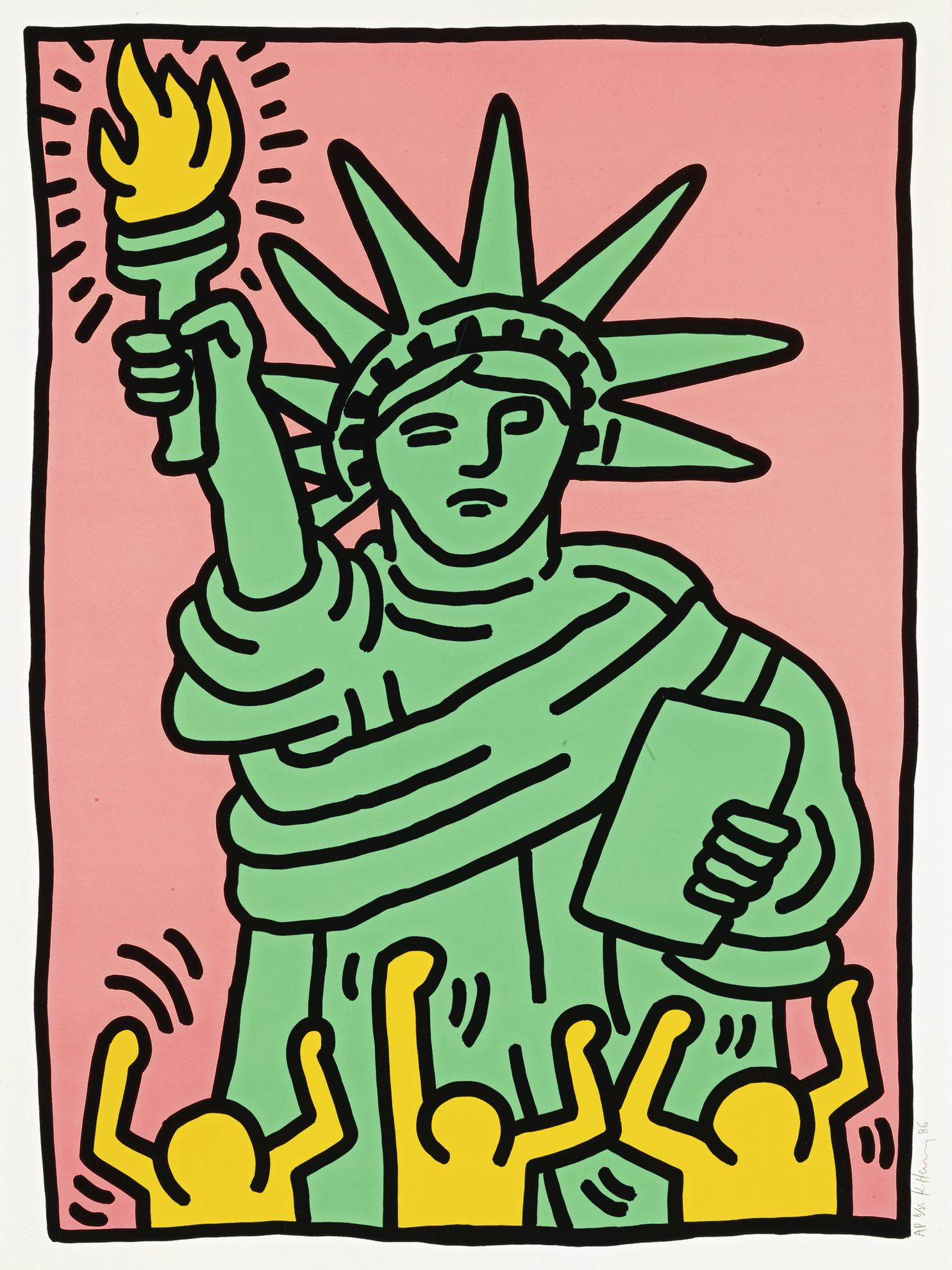 Keith Haring-Statue Of Liberty (Littmann P. 63)-1986