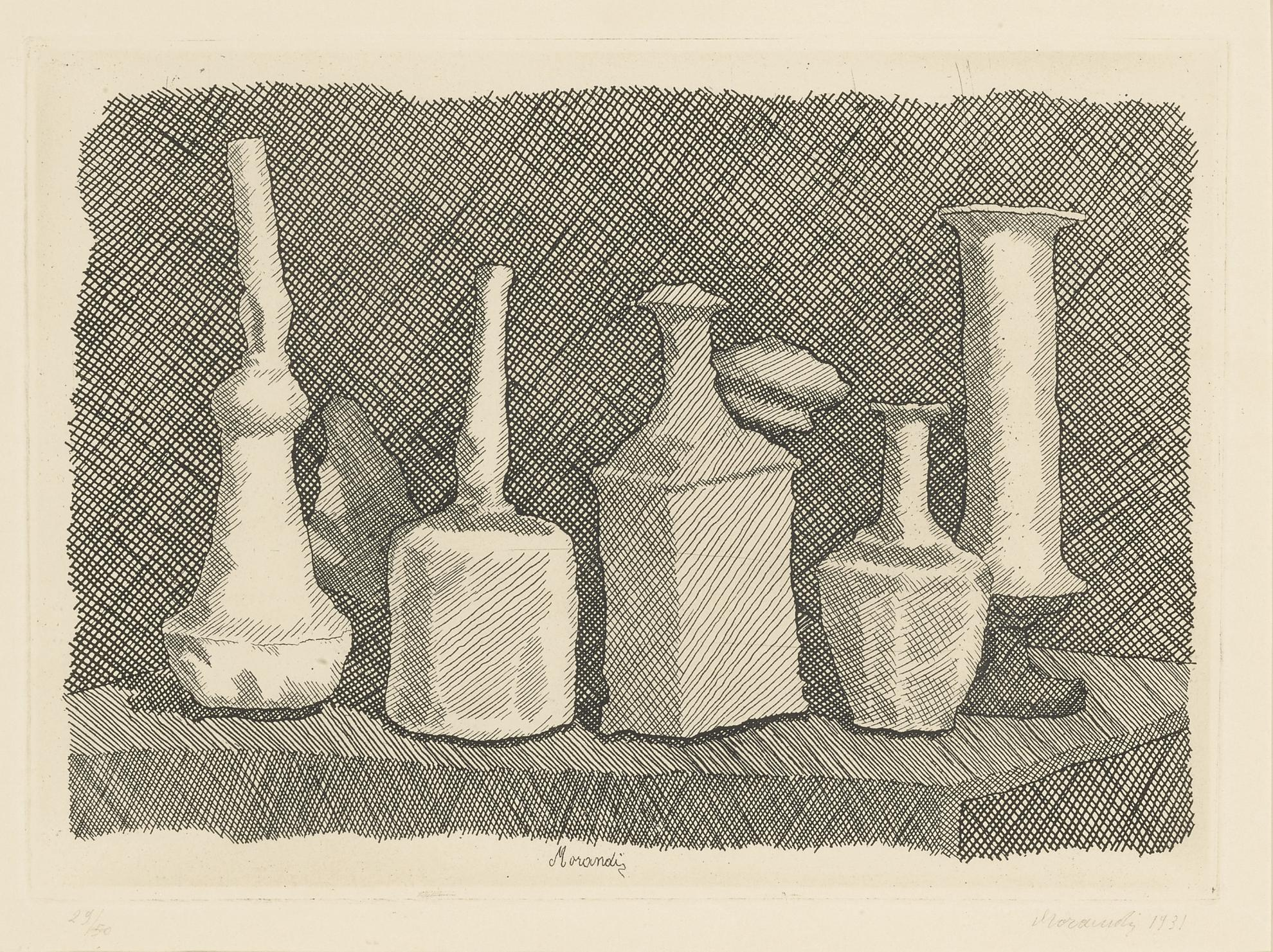 Giorgio Morandi-Nature Morta A Grandi Segni (V. 83)-1931