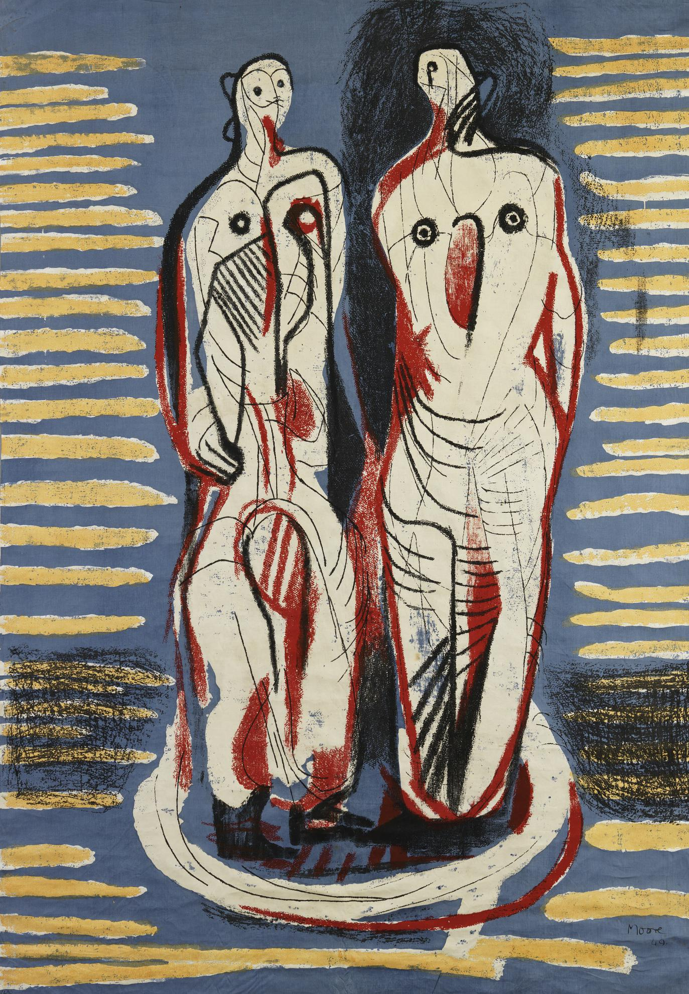 Henry Moore-Two Standing Figures (Henry Moore Foundation Tex. 20)-1948
