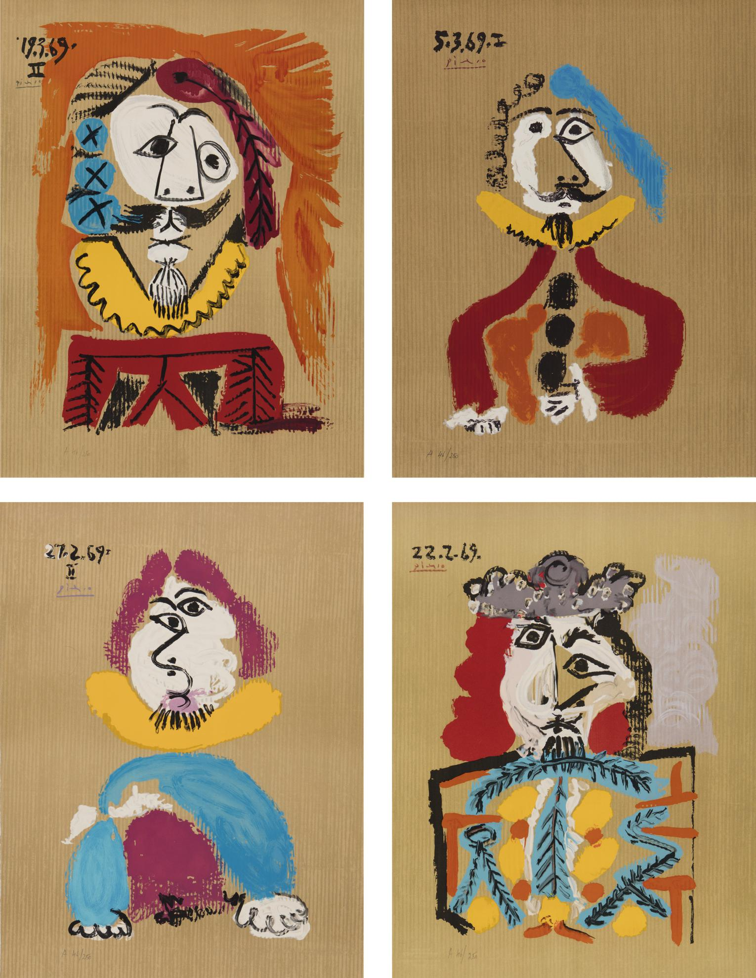Pablo Picasso-After Pablo Picasso - Imaginary Portraits-1969