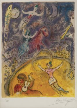 Marc Chagall-The Circus: One Plate (Mourlot 512; Cramer Books 68)-1967