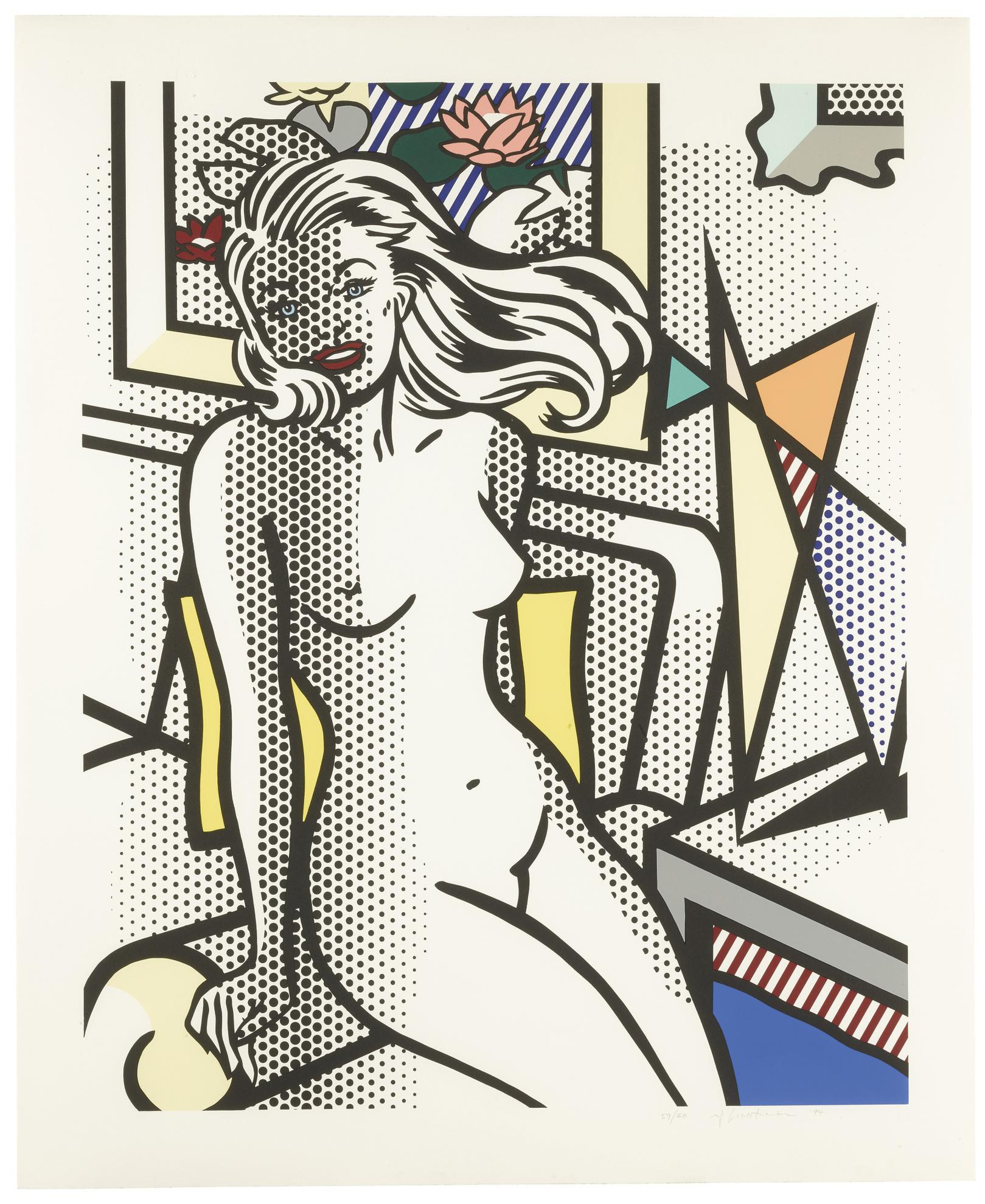 Roy Lichtenstein-Nude With Yellow Pillow (C. 283)-1994