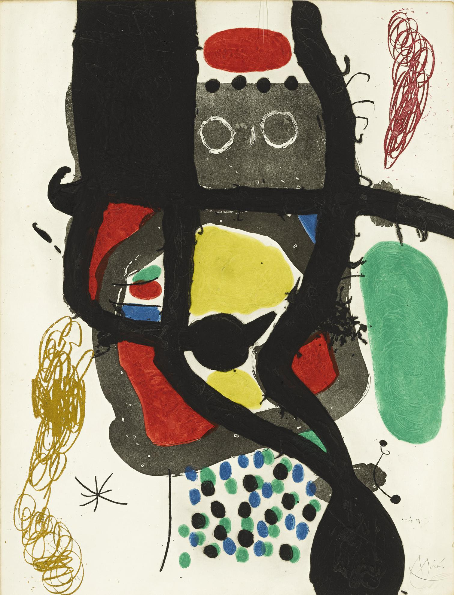Joan Miro-Le Caissier (D. 487)-1969