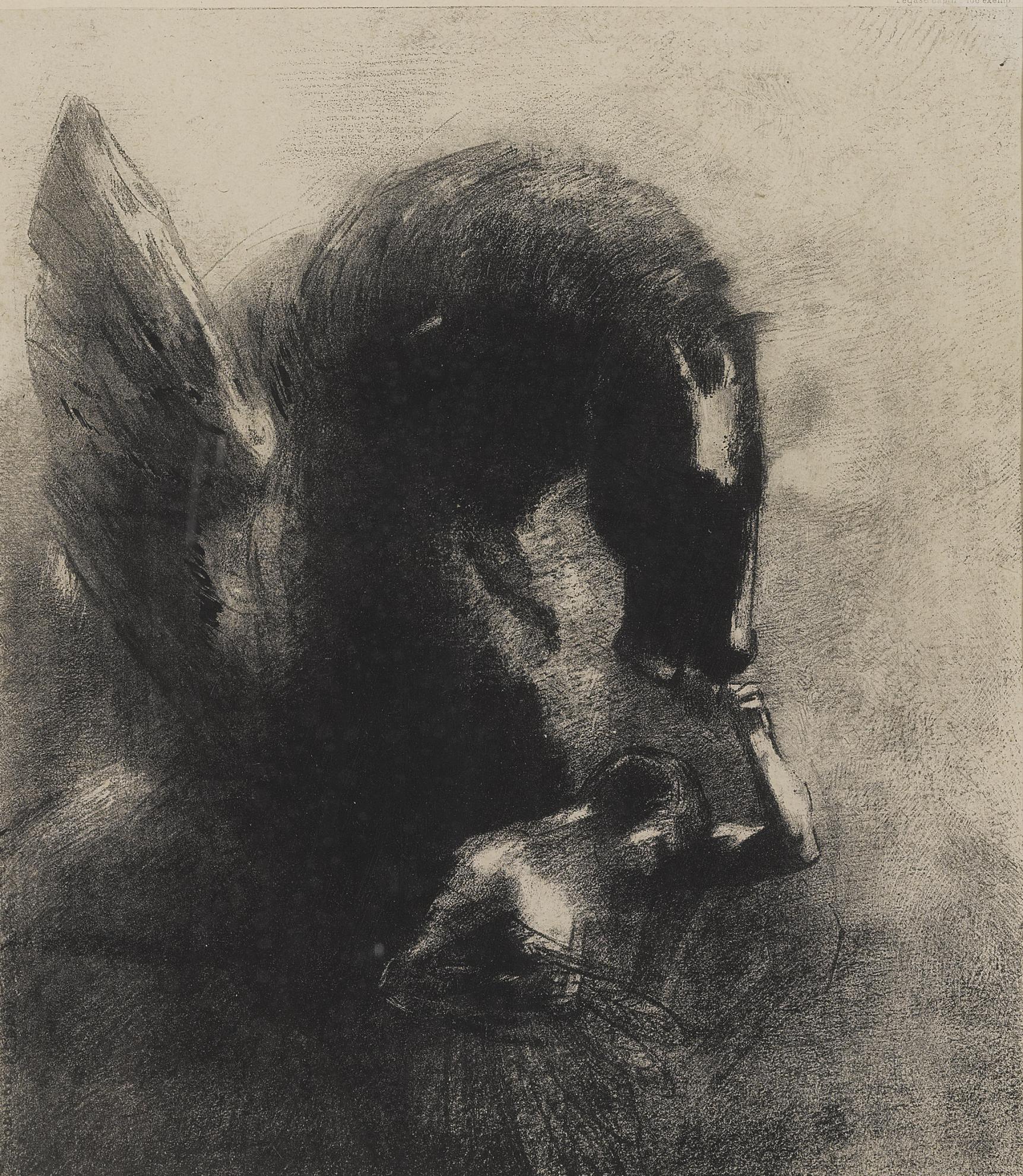 Odilon Redon-Pegase Captif (Mellerio 102)-1889