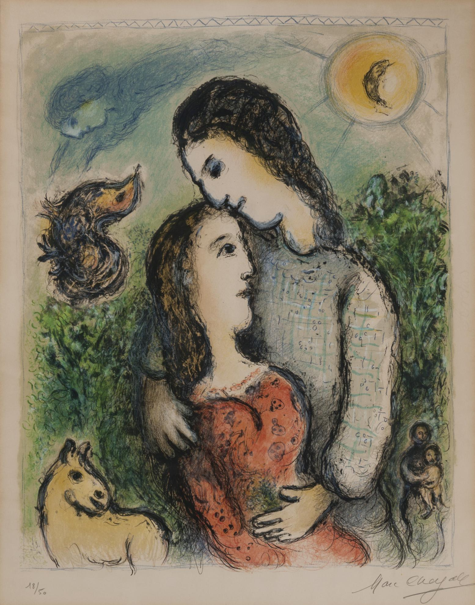 Marc Chagall-The Adolescents (M. 741)-1975