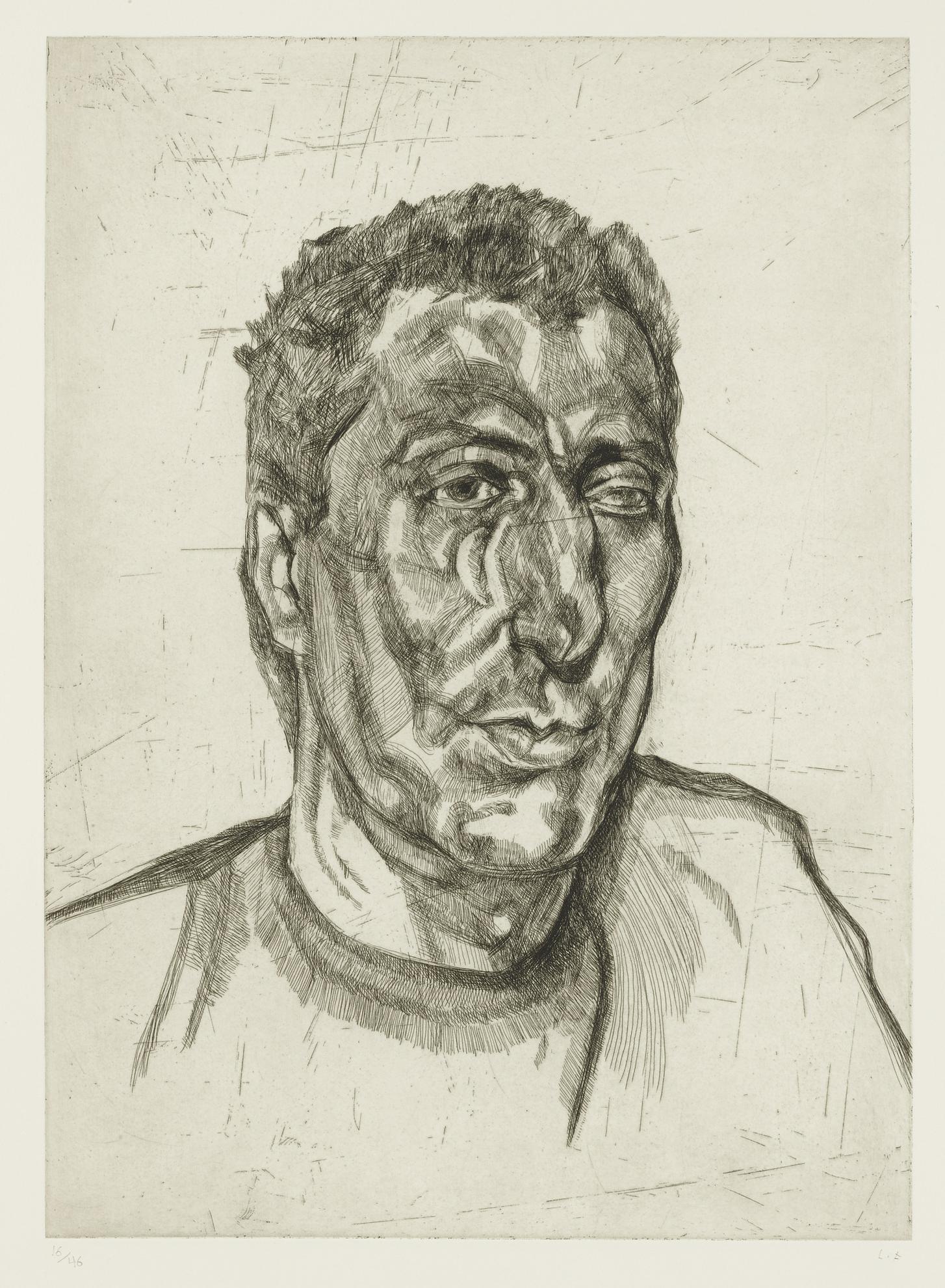 Lucian Freud-Head Of Ali (Figura 79)-1999