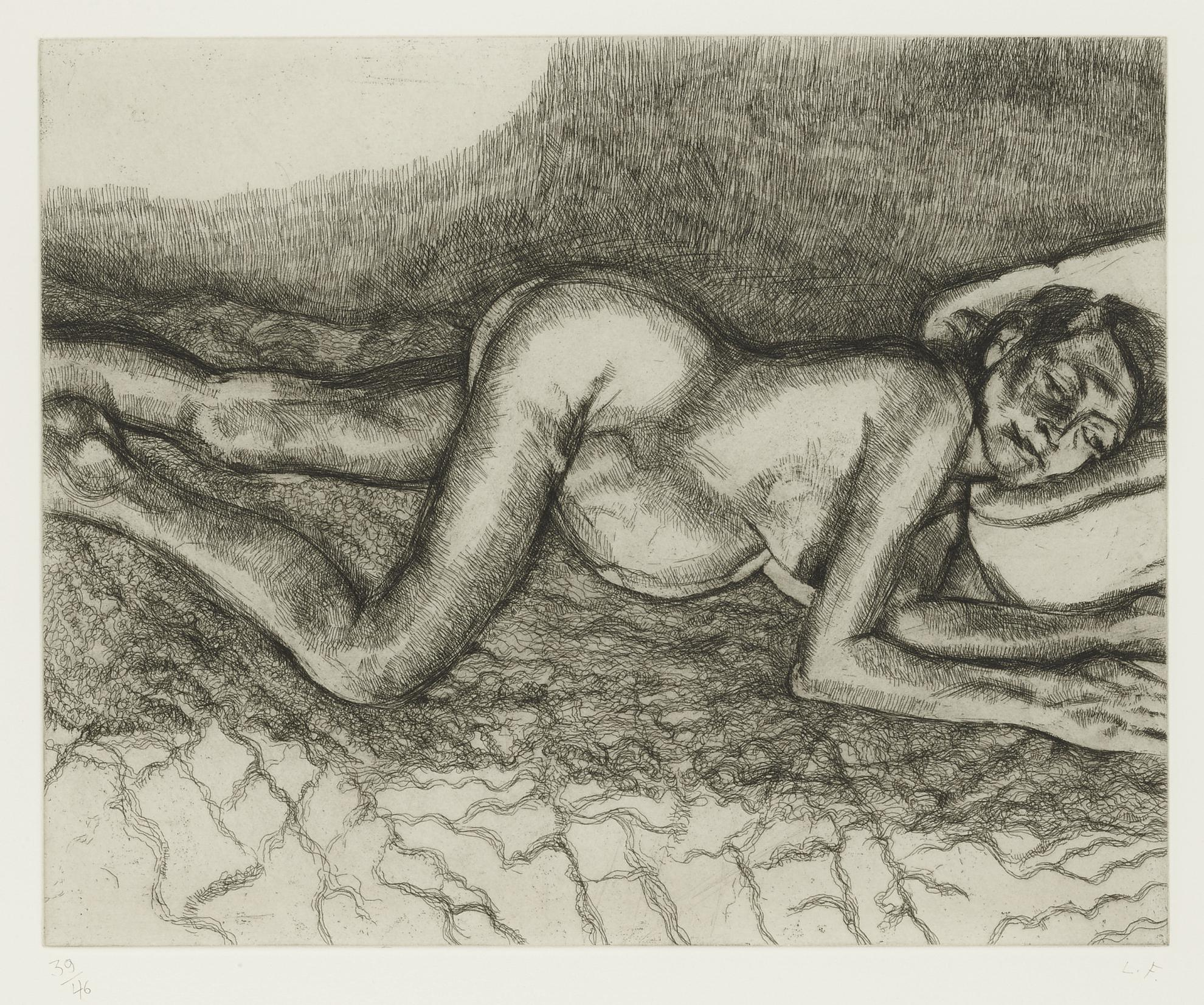Lucian Freud-Before The Fourth (Not In Hartley Or Figura)-2004