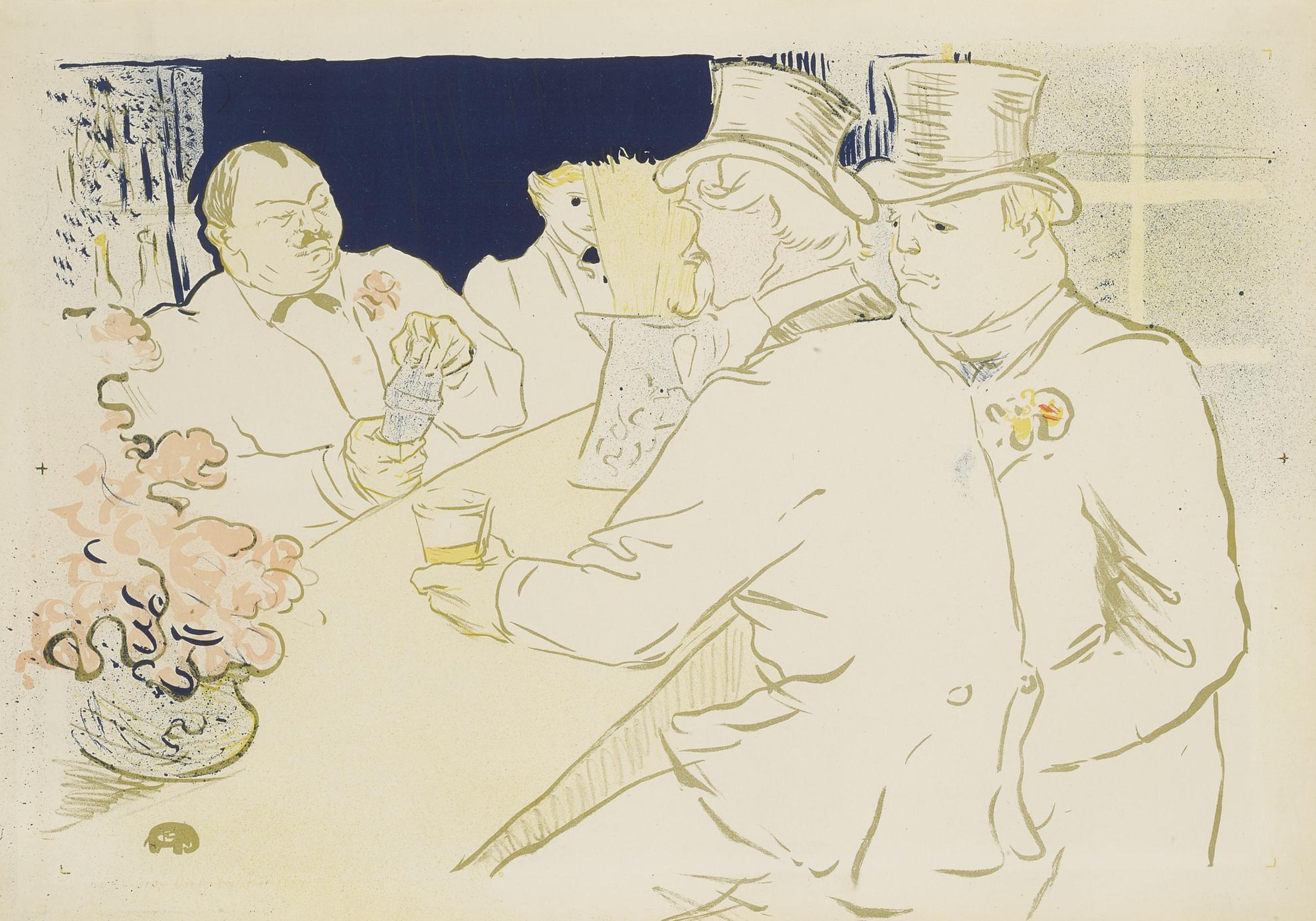 Henri de Toulouse-Lautrec-Irish And American Bar, Rue Royale - The Chap Book (D. 362; Adr. 139; W. P 18)-1895