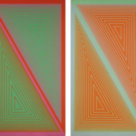 Richard Anuszkiewicz-Triangulated Orange; And Triangulated Green-1977