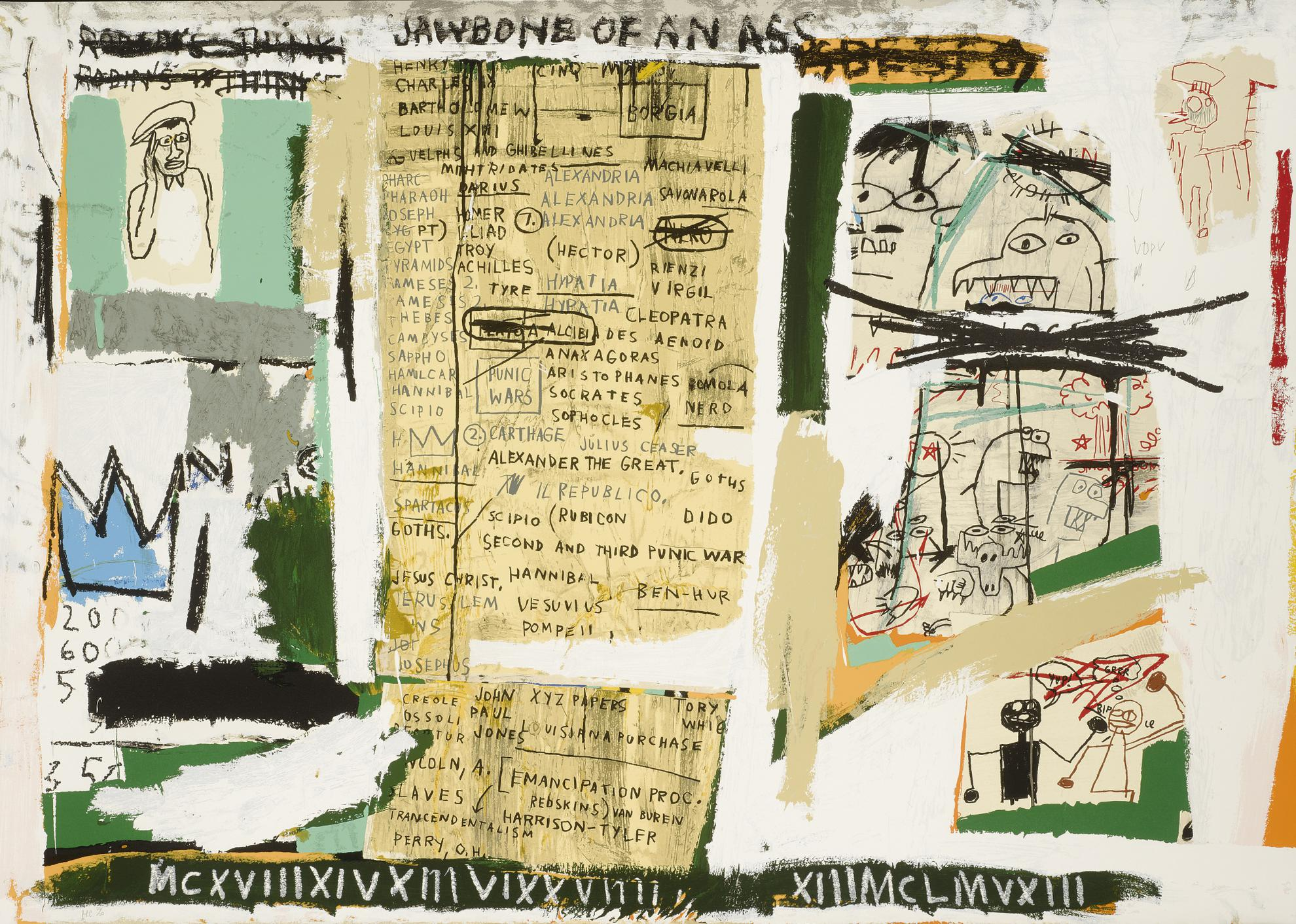 Jean-Michel Basquiat-After Jean-Michel Basquiat - Jawbone Of An Ass-2004