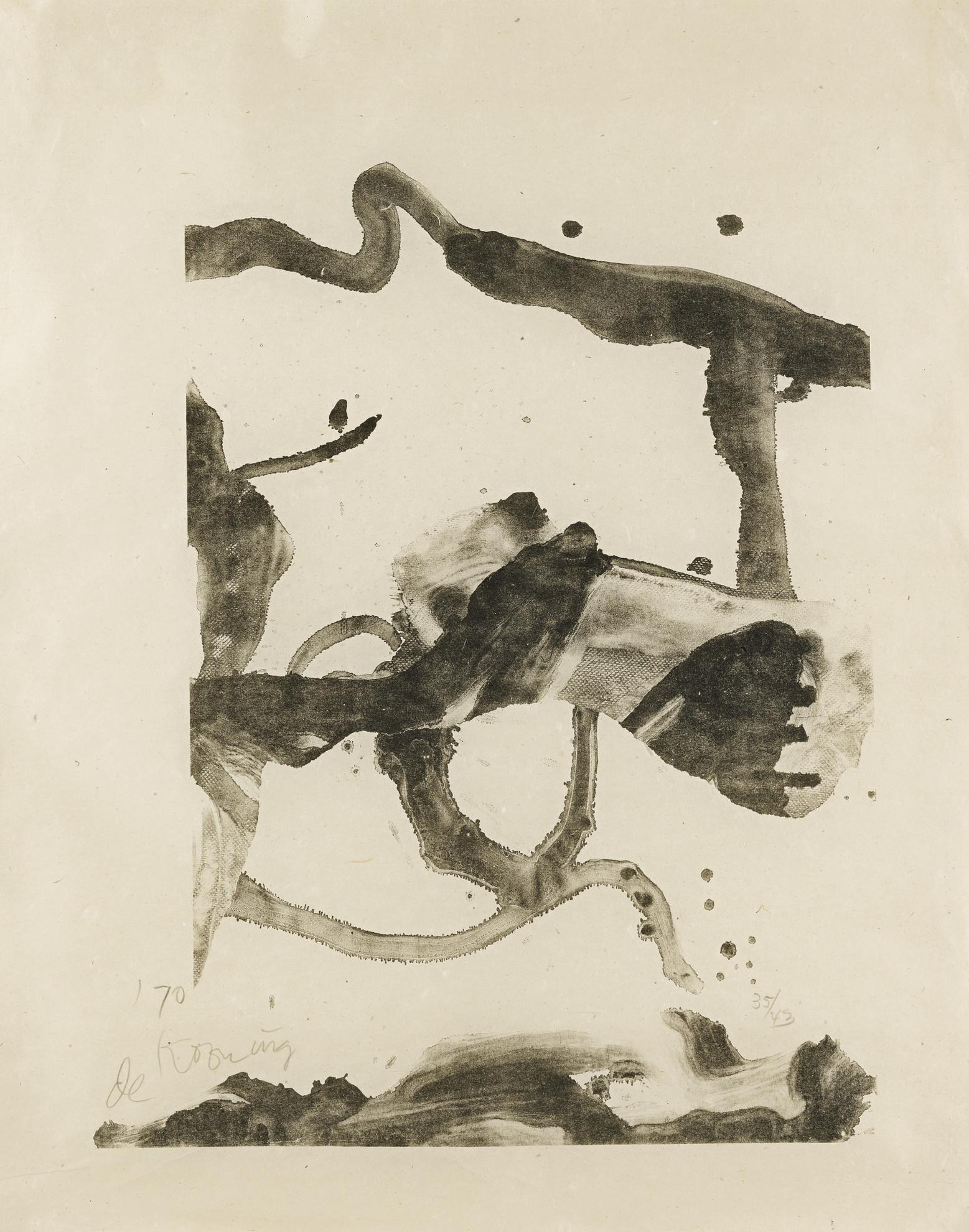 Willem de Kooning-Souvenir Of Montauk (Graham 9)-1971