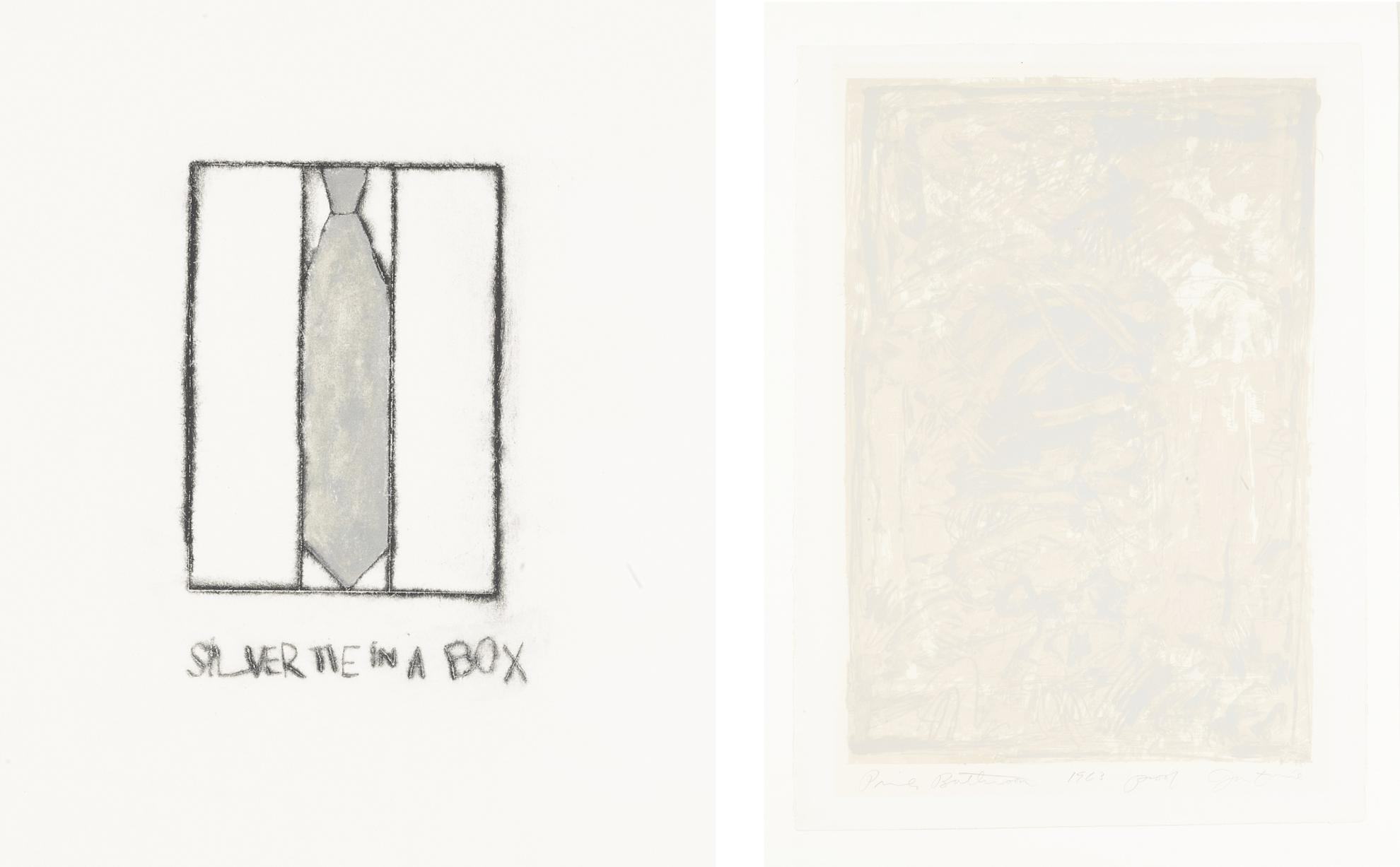Jim Dine-Silver Tie In A Box; And Pink Bathroom (Galerie Mikro 9 & 21)-1961