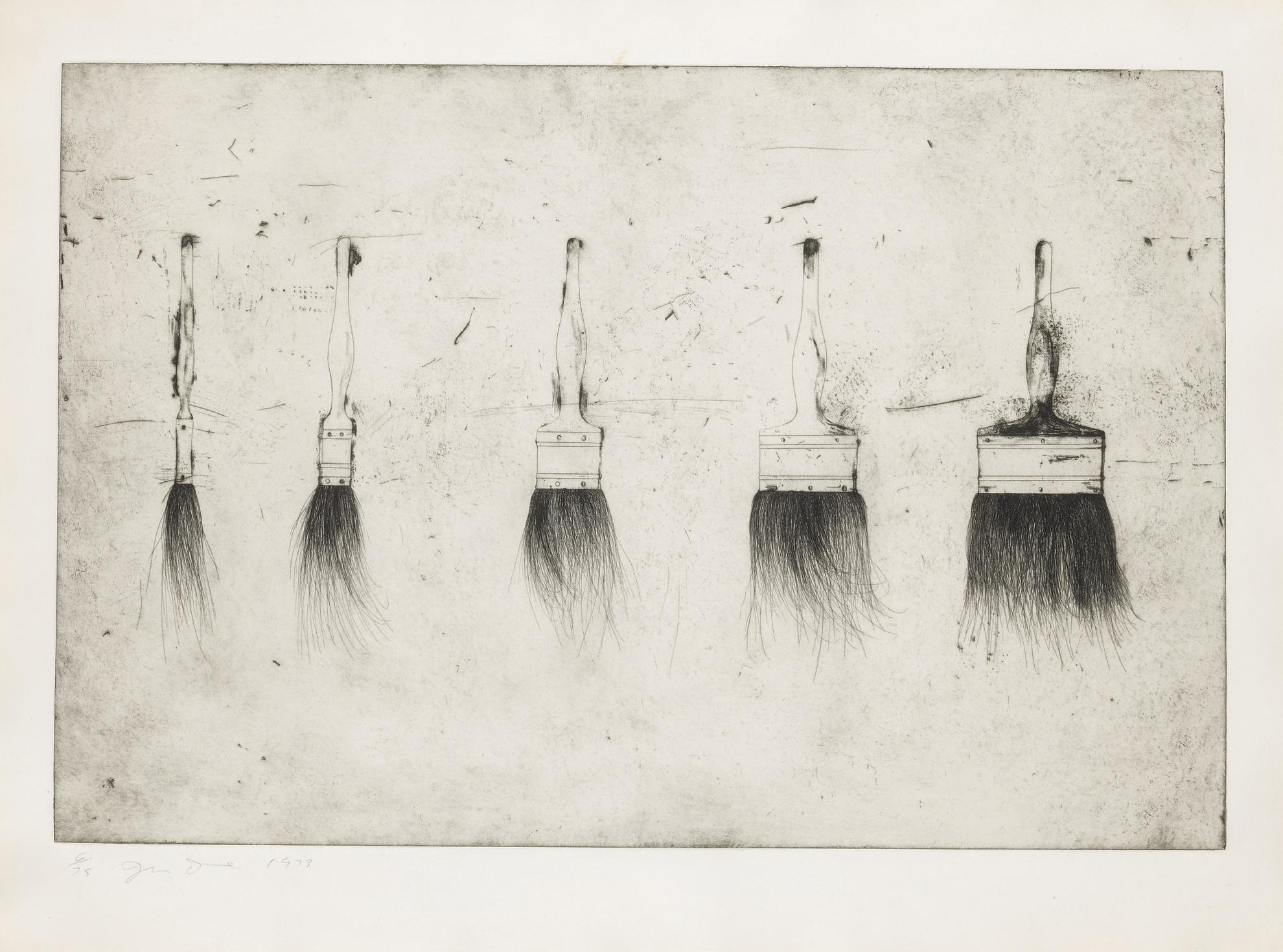Jim Dine-Five Paintbrushes (Williams College 135)-1972