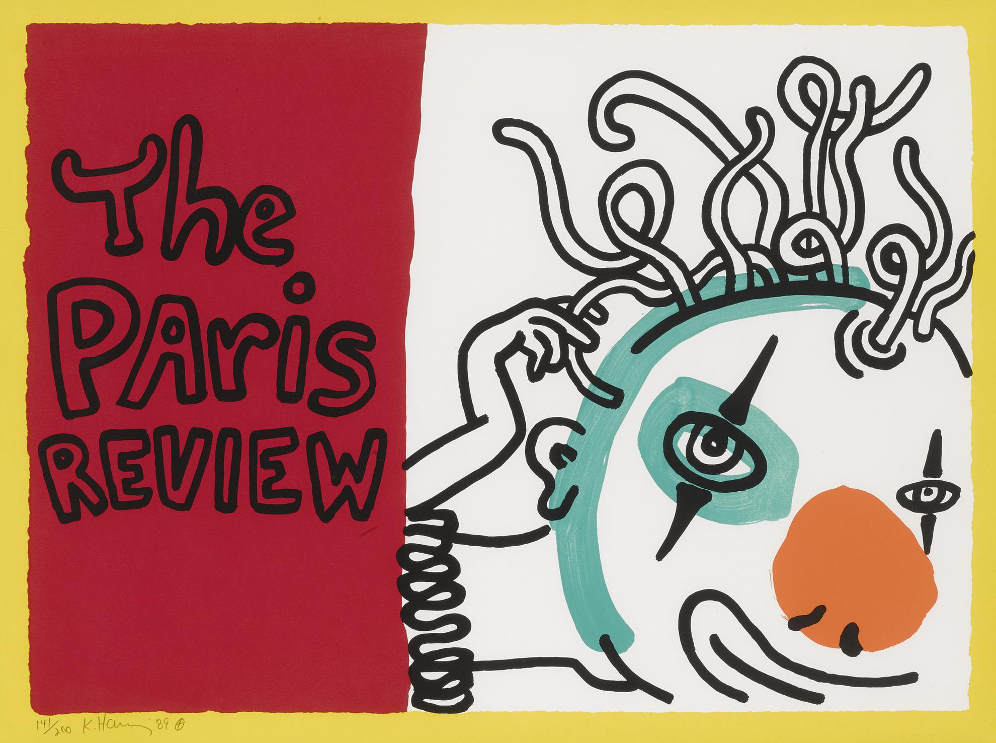 Keith Haring-The Paris Review (L. P. 114)-1989