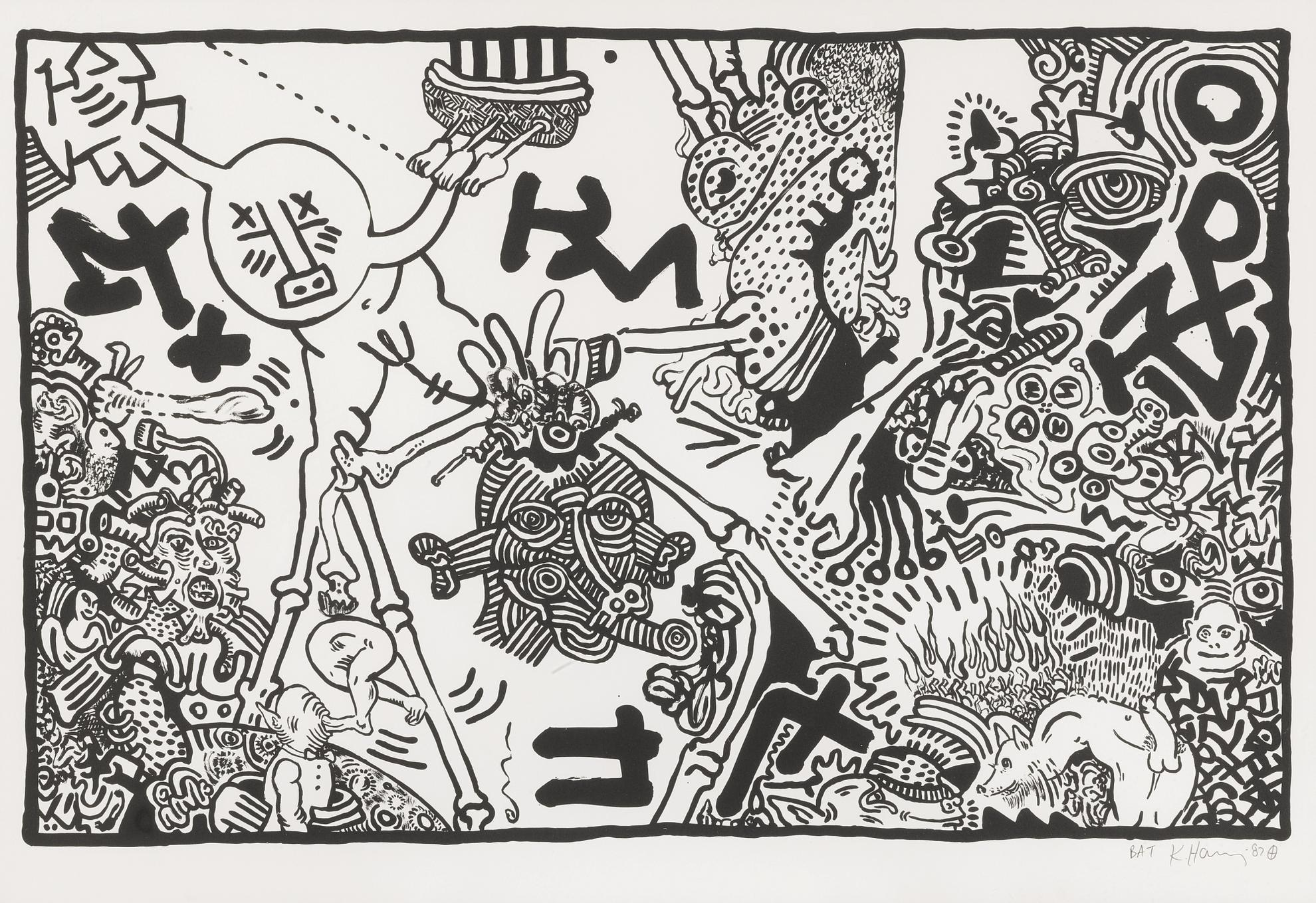 Keith Haring-Untitled (L. P. 72)-1987