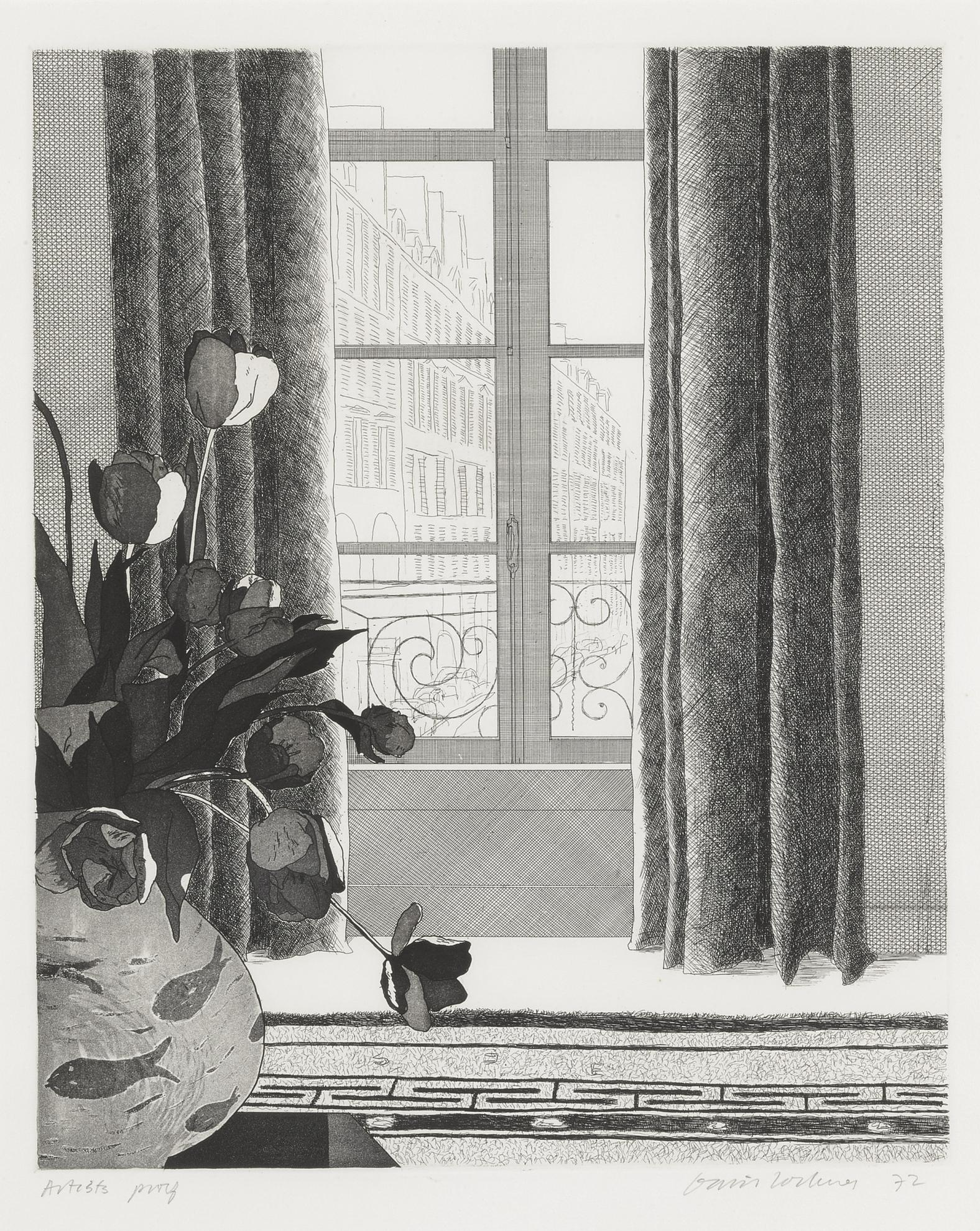David Hockney-Rue De Seine (Scottish Arts Council 121; M.C.A.T. 111)-1972