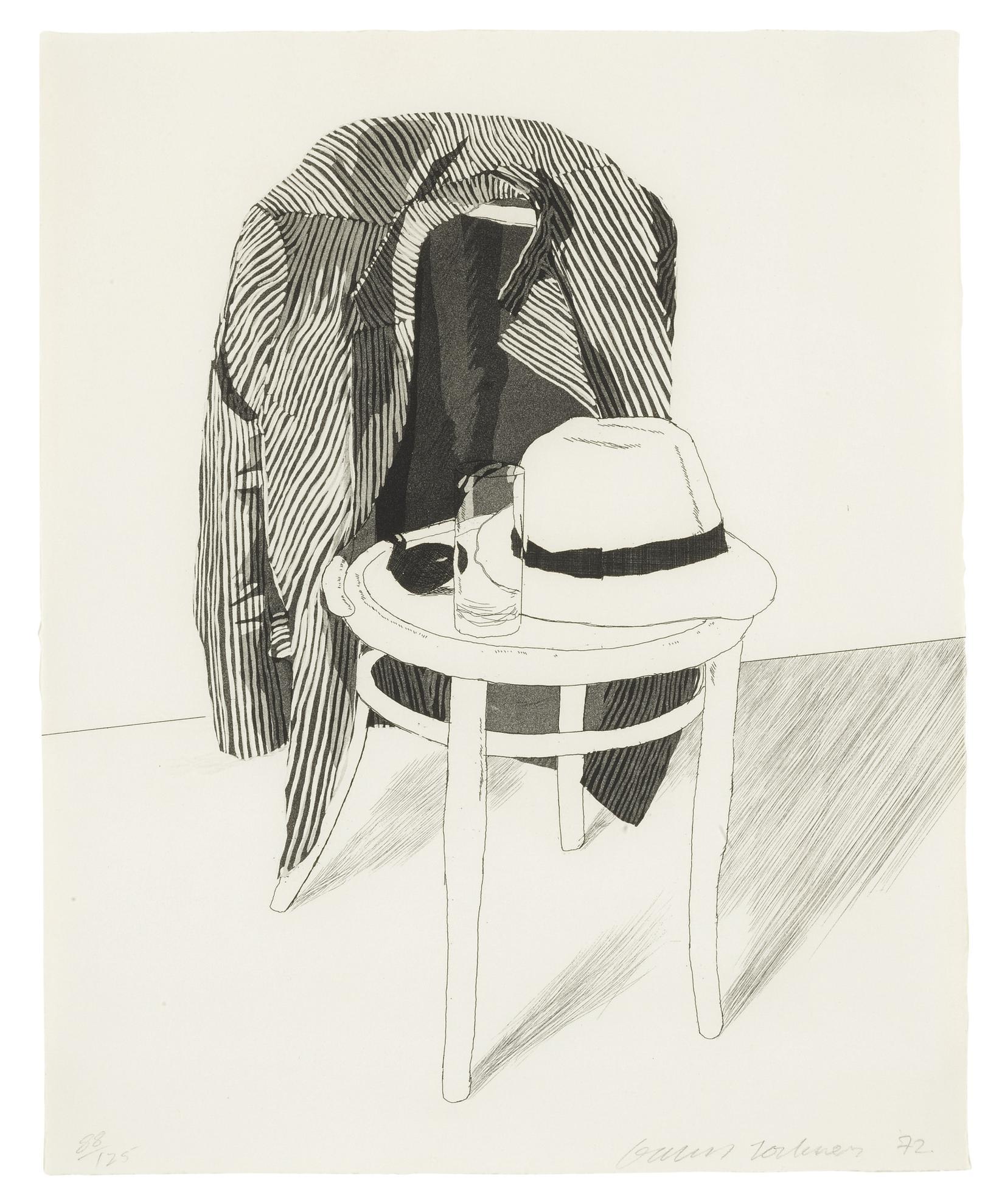 David Hockney-Panama Hat (S.A.C. 127; M.C.A.T. 119)-1972