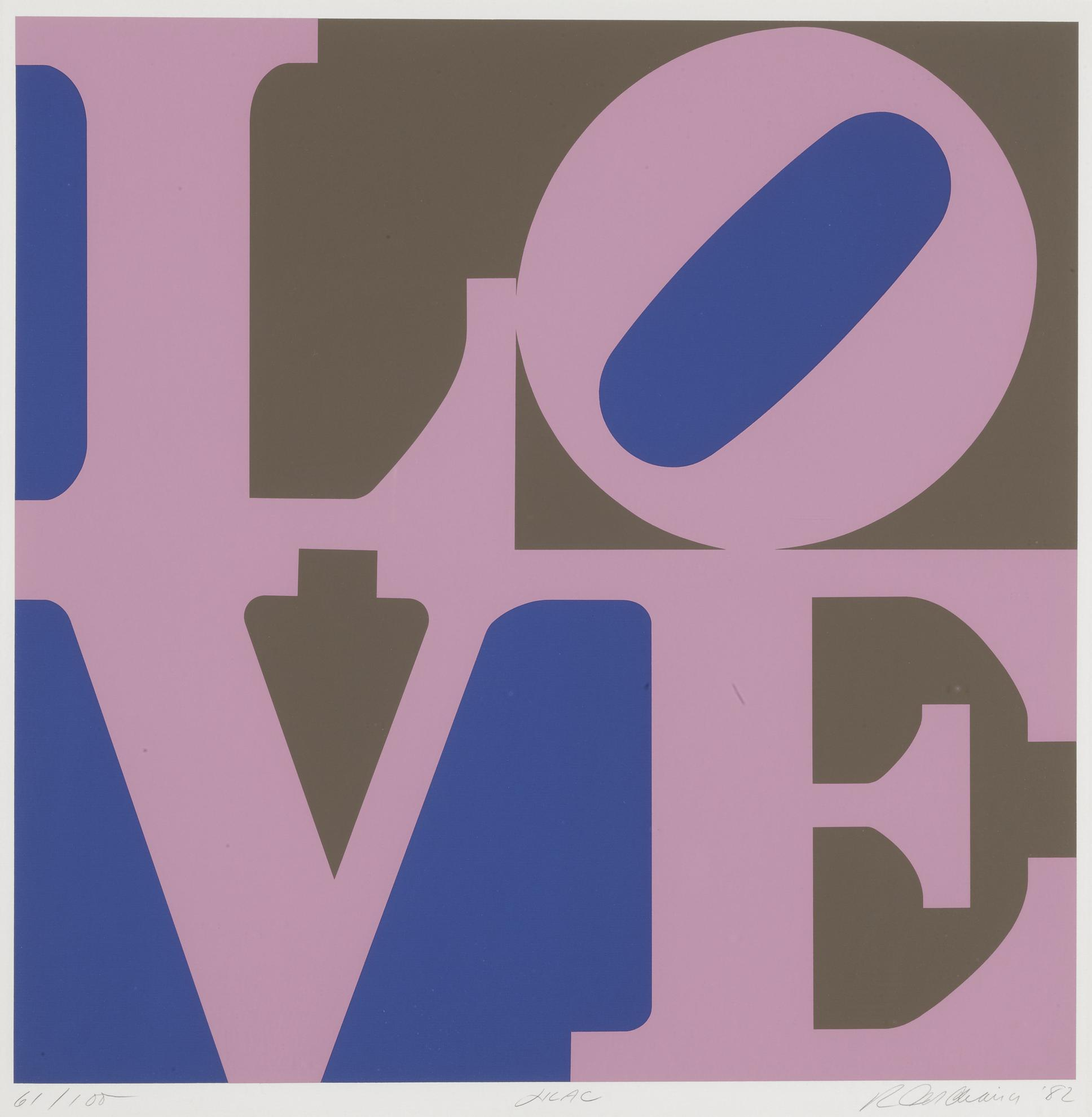Robert Indiana-A Garden Of Love: Lilac (Sheehan 131)-1982
