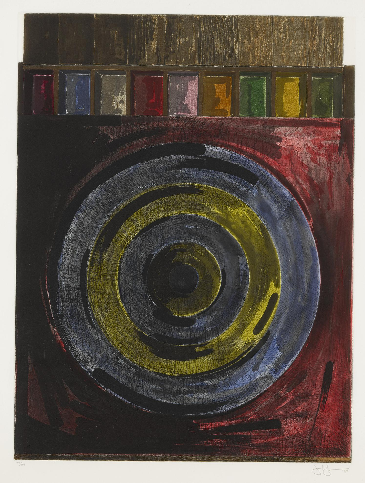 Jasper Johns-Target With Plaster Casts (Ulae 208)-