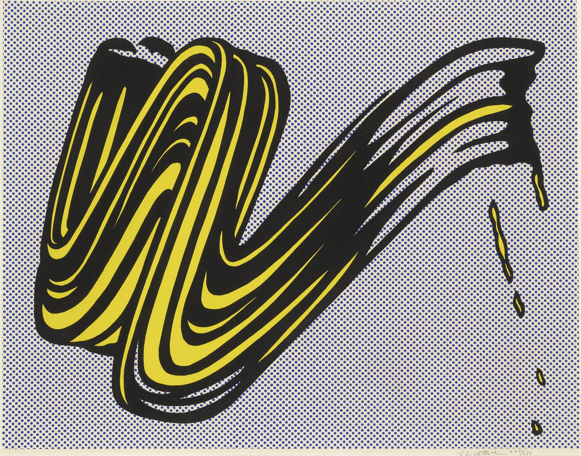 Roy Lichtenstein-Brushstroke (C. II.5)-1965