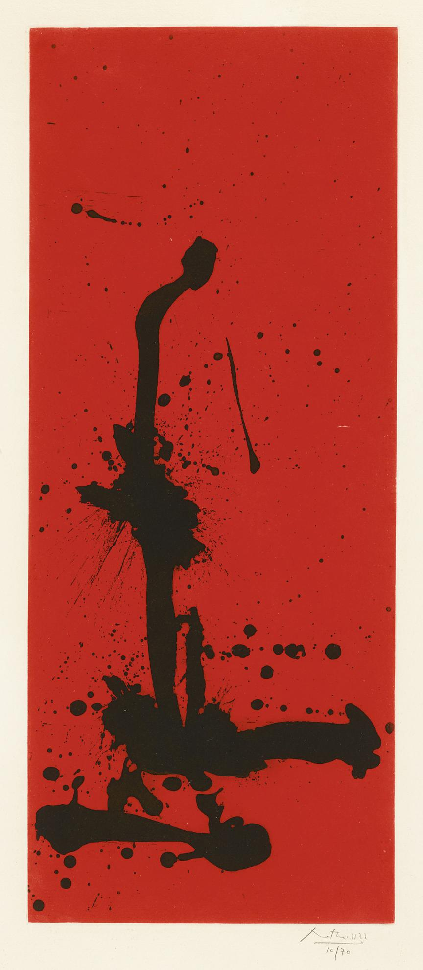 Robert Motherwell-Red Sea Iii (W.A.C. 316)-1983