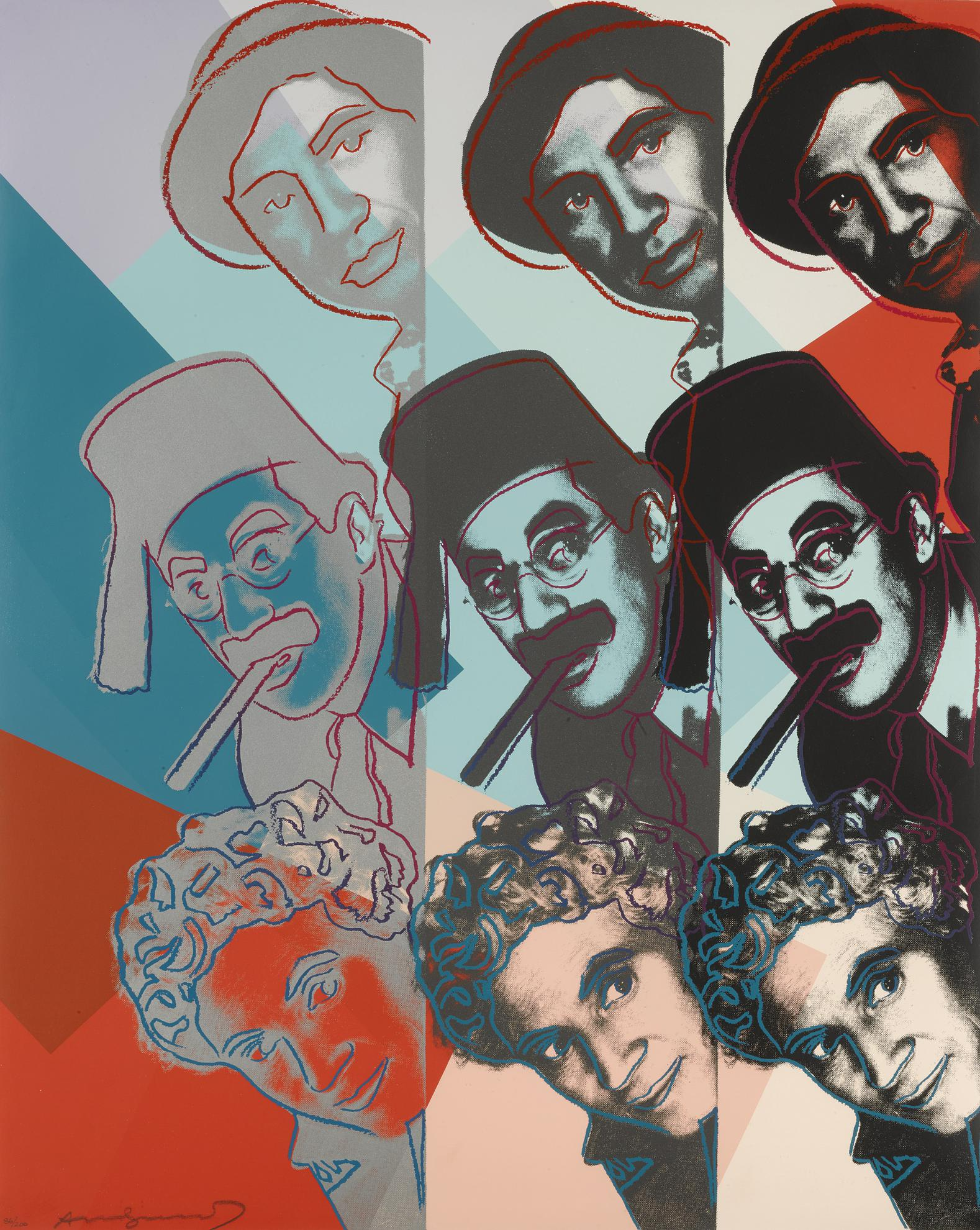Andy Warhol-The Marx Brothers (F. & S. II.232)-1980