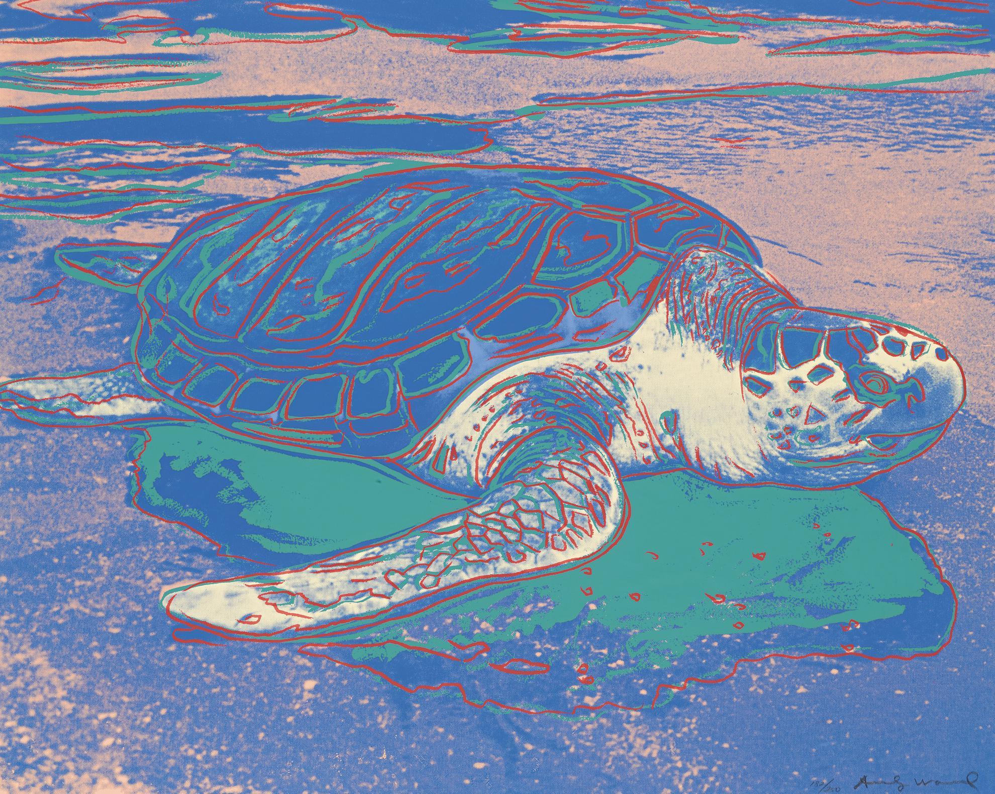 Andy Warhol-Turtle (F. & S. II.360A)-1985
