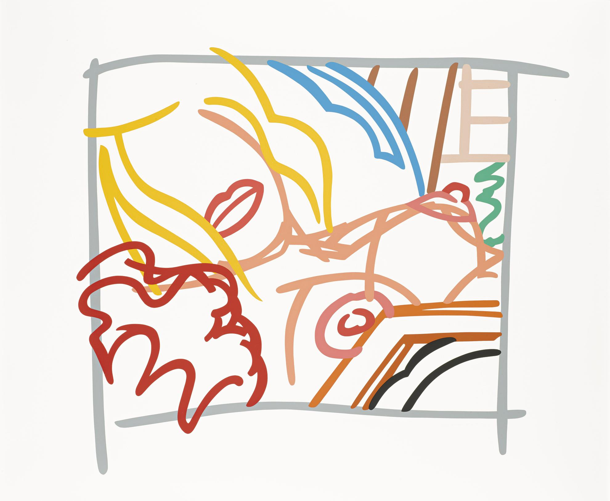 Tom Wesselmann-Bedroom Blonde Doodle With Photo-1988