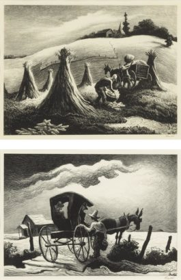 Thomas Hart Benton-Loading Corn; And Gateside Conversation (Fath 65 & 69)-1946