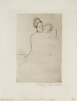 Mary Cassatt-Gardner Held By His Mother (B. 113)-1887