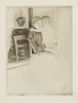 Mary Cassatt-The Mirror (B. 136)-1891