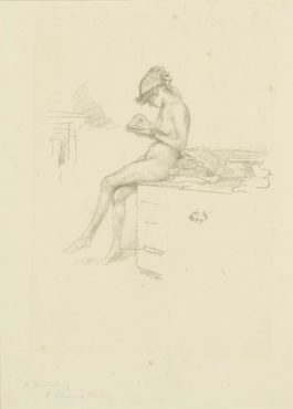 James Abbott McNeill Whistler-The Little Nude Model, Reading (S./S./T. 33)-1890