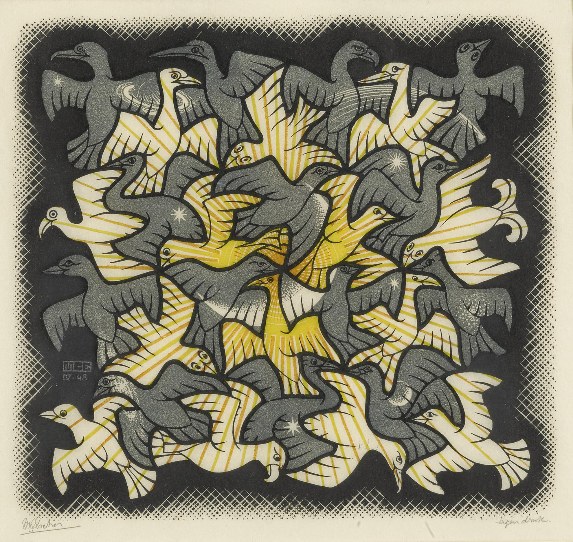 Maurits Cornelis Escher-Sun And Moon (Bool/Kist/Locher/Wierda 357)-1948