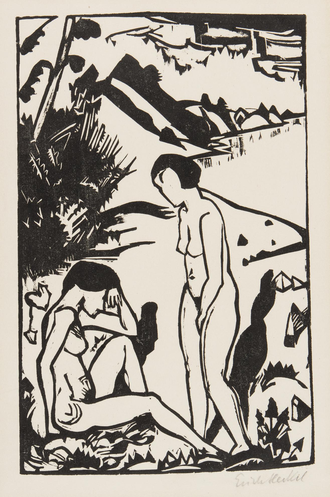 Erich Heckel-Am Strand (D. H. 336 III)-1923