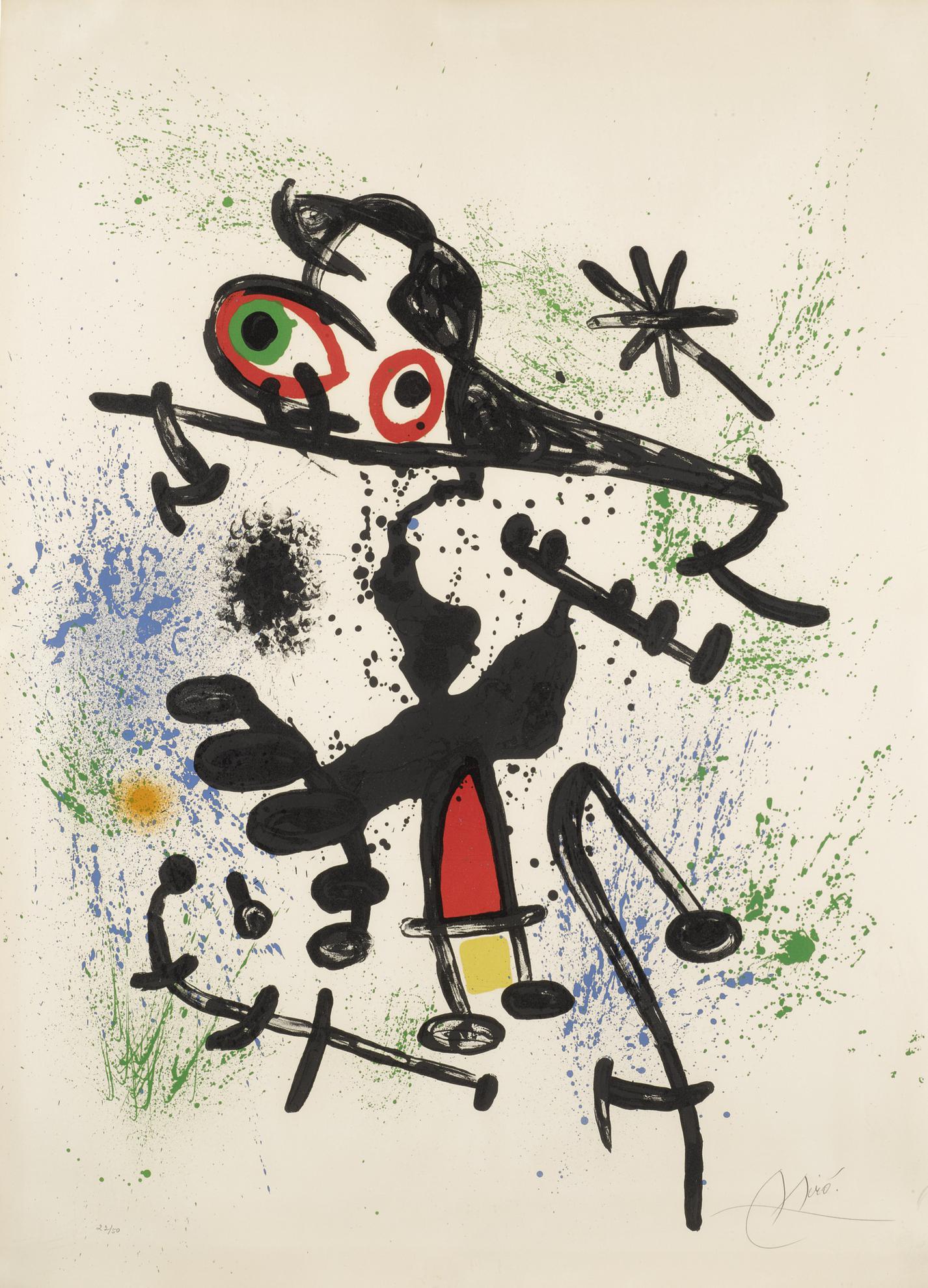 Joan Miro-La Fille Du Delta (Mourlot 696)-1971
