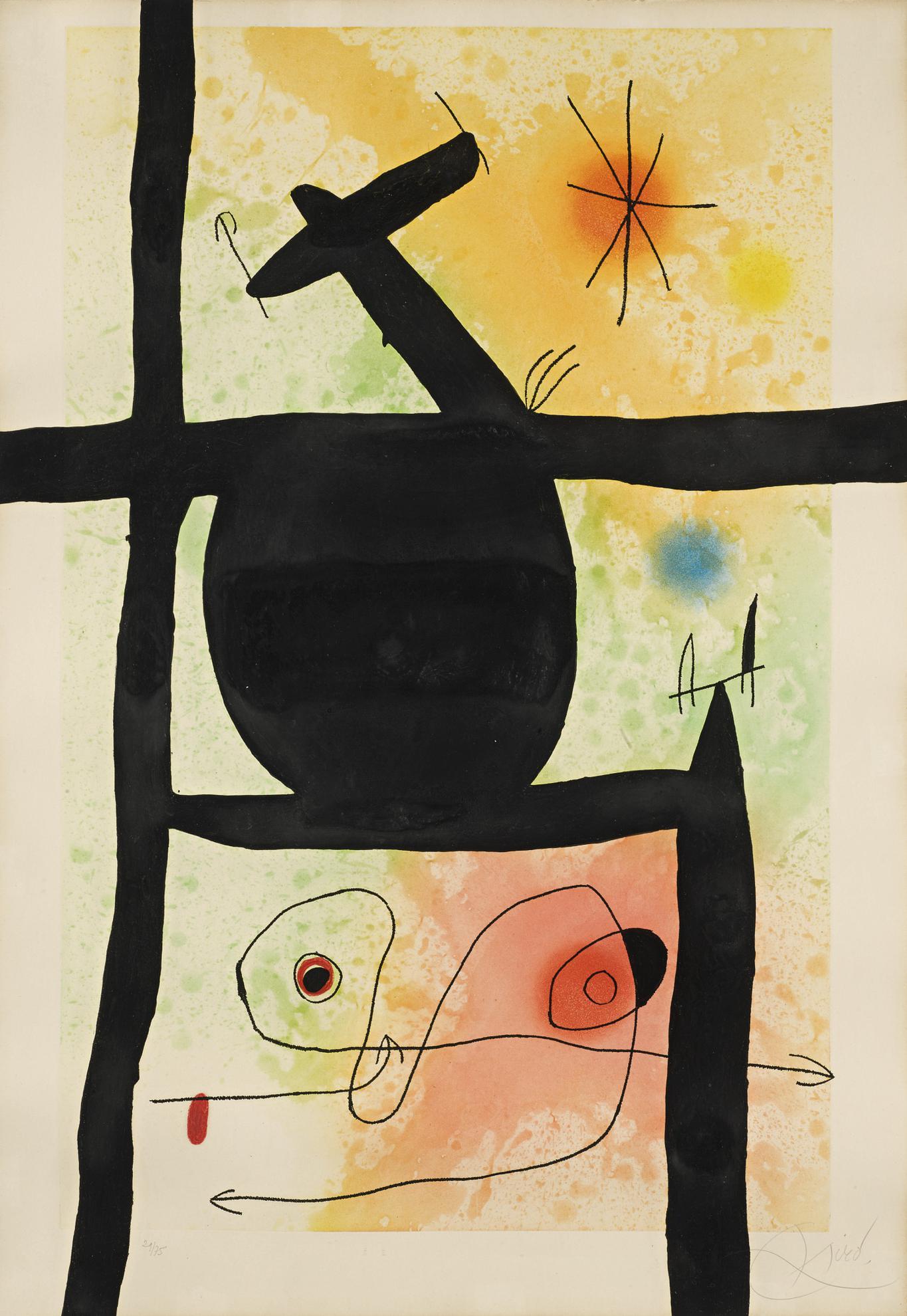 Joan Miro-La Calebasse (D. 488)-1969