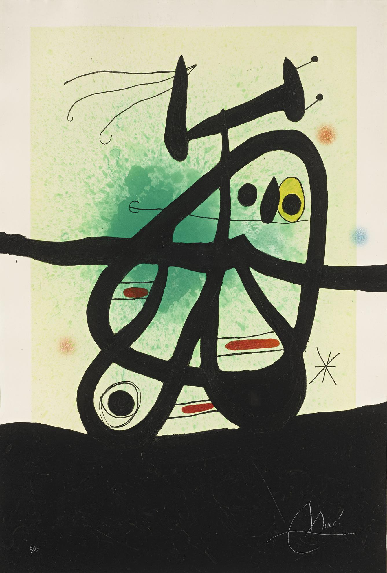 Joan Miro-Loiseau Mongol (D. 513)-1969