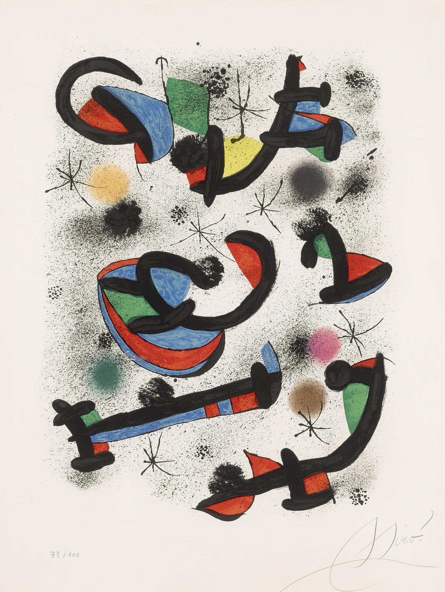 Joan Miro-La Seance De Musique (M. 1230)-1981