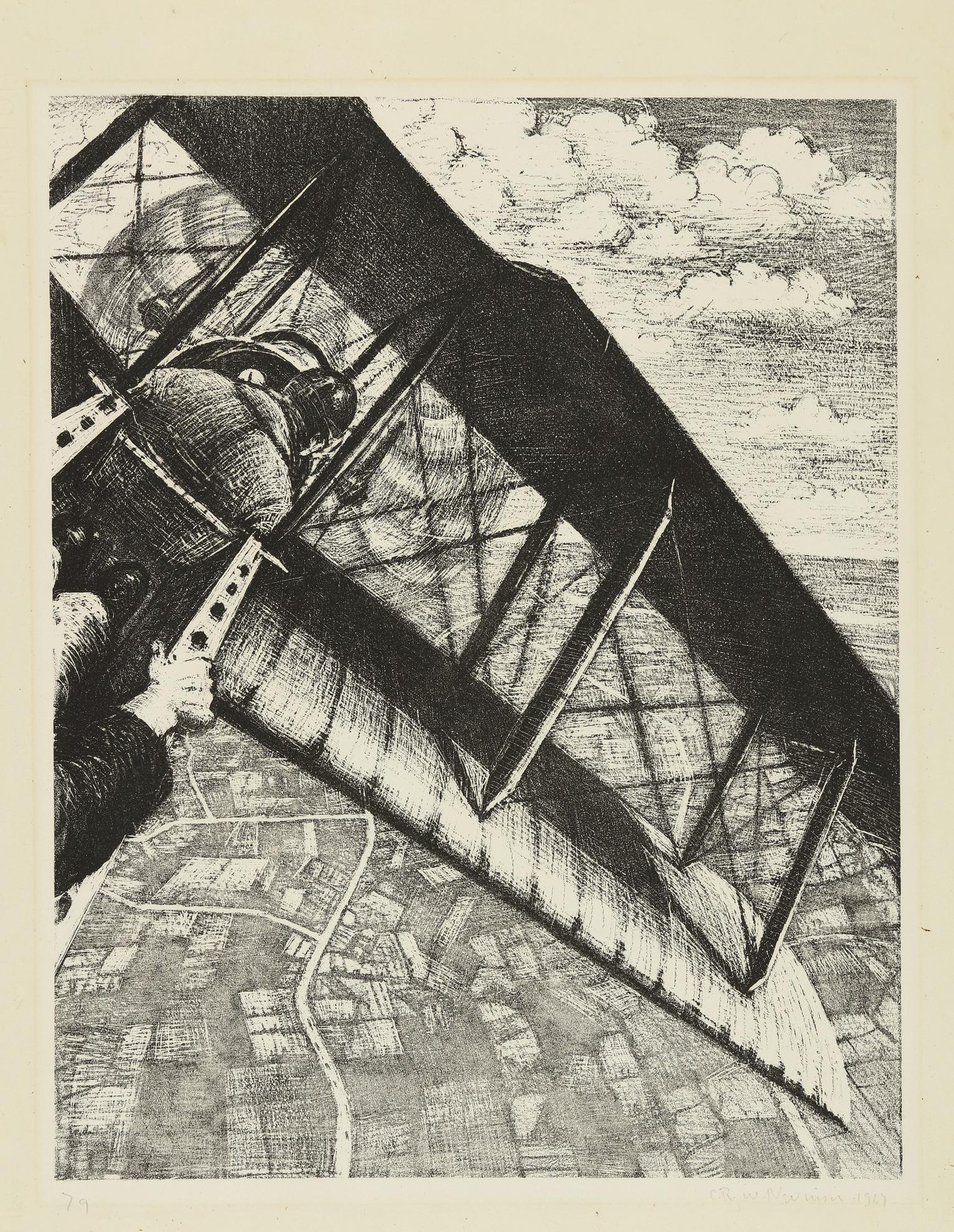 C. R. W. Nevinson - Banking At 4,000 Feet (L. Gall. 23; B. 20)-1917