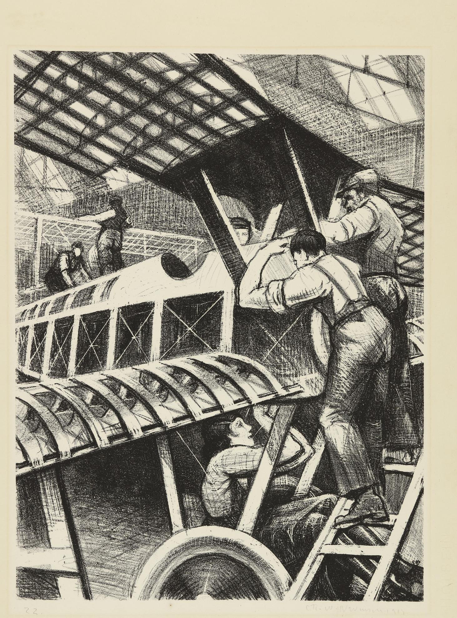C. R. W. Nevinson - Assembling Parts (L. Gall. 26; B. 18)-1917