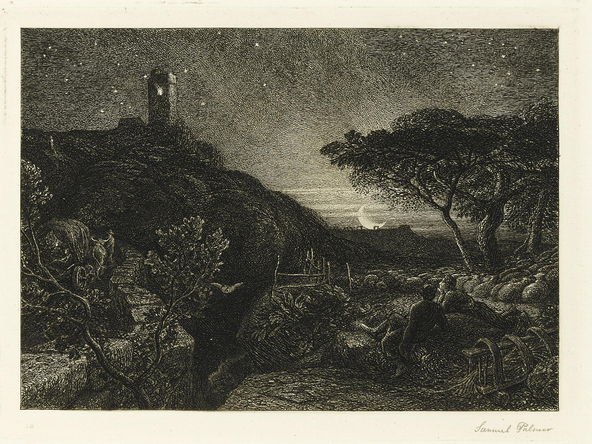 Samuel Palmer-The Lonely Tower (L. 12)-1879