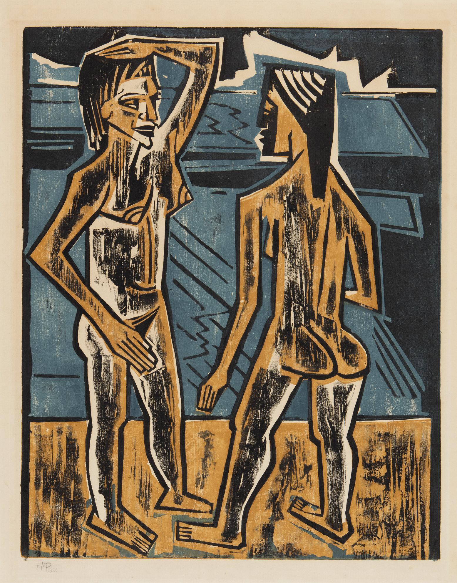 Max Pechstein-Zwiesprache (Kruger H. 228)-1920