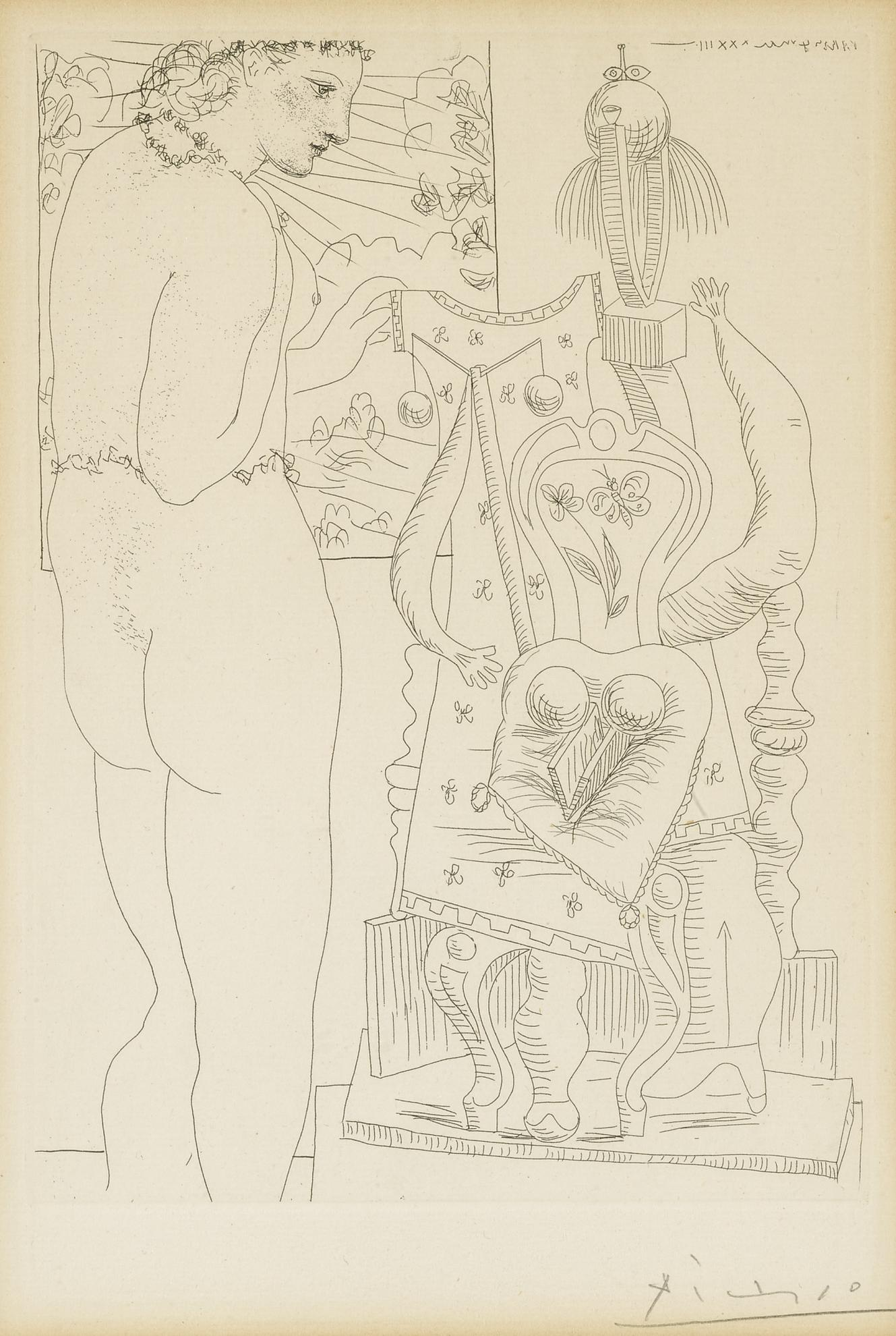 Pablo Picasso-Marie-Therese Considerant Son Effigie Surrealiste Sculptee (B. 187; Ba. 346)-1933